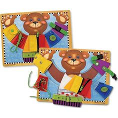 The Melissa & Doug Basic Skills Board works on fine motor skills to help kids learn how to dress themselves. The Melissa & Doug Basic Skills Board includes a zipper, two kinds of buckles, a snap, a lace and a button. Each skill is contained on a s Activity Board, Activity Toys, Activities, Latch Board, Wooden Educational Toys, Developmental Toys, Melissa & Doug, Wooden Puzzles, Wooden Toys