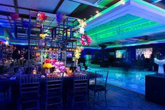 Urban Graffiti Bar Mitzvah Theme - Cool, Modern, Colorful & Different Centerpieces {Cristina Calvi Photography, Gala Event and Food Artistry NY} - mazelmoments.com