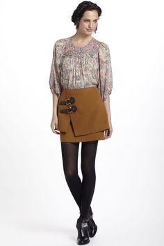 Buckled Felt Skirt -want!