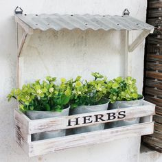 Cheap flower pots & planters on sale at bargain price, buy quality pot Wooden Crates Planters, Cedar Planters, Planter Pots, Hanging Flower Pots, Flower Planters, Flower Wall, Diy Garden Decor, Garden Art, Garden Drawing