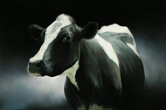 Sold | Bregtje the Cow, oil/canvas 16 x 24 inch (40 x 60 cm) © 2010 Klimas