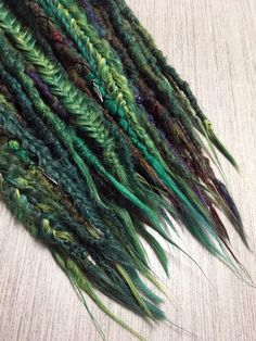 Synthetic and Wool temporary dreadlocks / braids by WarriorLocks Dread Hairstyles For Men, Dreadlock Hairstyles, Weave Hairstyles, Pretty Hairstyles, Prom Hairstyles, Extensions Ombre, Dreadlock Extensions, Dreadlock Styles, Fake Dreads
