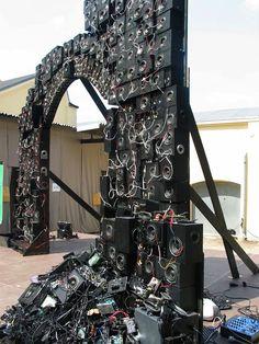 Gigantic Recycled Speaker Sculptures Boom Sound - My Modern Met