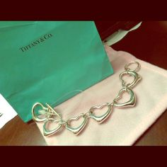 Heart bracelet Multiple heats sterling silver 1997 made & stamped Tiff & Co.  Solid S/S Tiffany & Co. Jewelry Bracelets