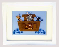 Quilled Noah's Ark by PapercraftCollective on Etsy, $25.00