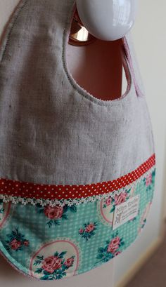 Baby girls bib Afternoon tea by MikraRouha on Etsy, $17.00