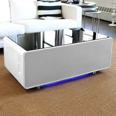 Sobro Smart Coffee Table with Storage Color: White/Black Smart Furniture, Repurposed Furniture, Home Furniture, Furniture Design, Multipurpose Furniture, Unique Furniture, Contemporary Furniture, Wall E, Coffee Table With Storage