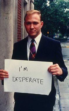 Gillian Wearing I'm desperate Signs 1992-1993