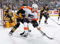 Pittsburgh, PA: It was a hockey night in Pittsburgh that did not disappoint, with Philadelphia overpowering playoff-bound Pittsburgh. The Wednesday Night Rivalry at Consol Energy Center fueled th… Latest Sports News, Flyers, Nhl, Penguins, Motorcycle Jacket, Amber, Ruffles, Penguin, Ivy