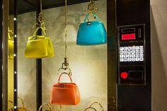 FENDI 'Vending Machine' windows at flagship store in Rome