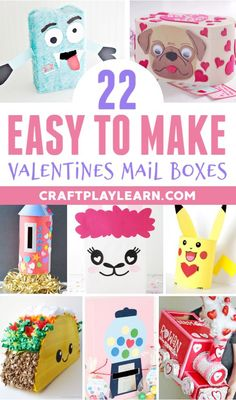Check out these fun Valentines Day Mail Box Ideas. These Valentines day crafts for kids are fantastic and will make one fun preschool activity or pre-k craft idea. Get crafting this Valentines and enjoy these brilliant craft ideas for children! Valentine Day Boxes, Valentines For Kids, Valentine Day Crafts, Valentine's Day Crafts For Kids, Projects For Kids, Fun Crafts, Art Projects, Marker Crafts, Kindergarten Crafts