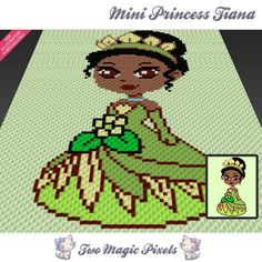 Mini Princess Tiana inspired crochet blanket от TwoMagicPixels