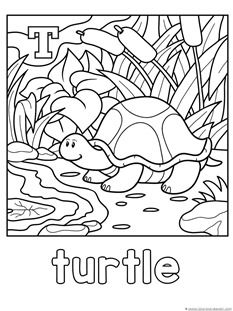 Animal Alphabet Coloring Printables {S, T, U, V, W, X