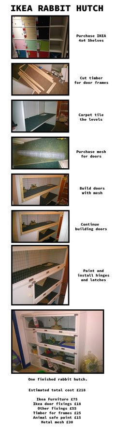 Rabbit animal hutch ikea hack