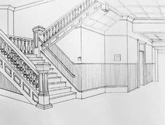 Perspective Art | luxury interior wallpapers: Interior Perspective Drawings