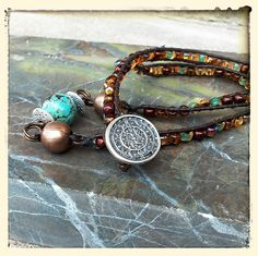 Women's Princess or Choker African Turquoise Weave Necklace by BeadModern on Etsy Leather Weaving, Antique Copper, Bead Weaving, Gemstone Jewelry, Weave, Handmade Jewelry, Chokers, Beaded Bracelets, African