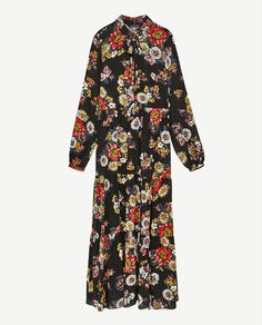 Image 8 of LONG DRESS WITH FLORAL PRINT from Zara