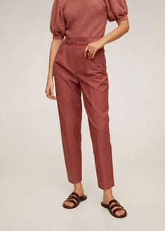 Discover the latest trends in women's trousers. Dressy, skinny, palazzo and baggy trousers, chinos and leggings. Free delivery from and free returns - RETURNS EXTENDED TO 60 DAYS Trousers Women, Pants For Women, Mango France, Manga, Darts, Moschino, Denim Skirt, Latest Trends, Fashion Clothes