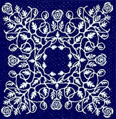 Rambling Rose Quilt by Rozemaryn Van Der Horst.  A Hawaiian quilt style, interpreted with roses!