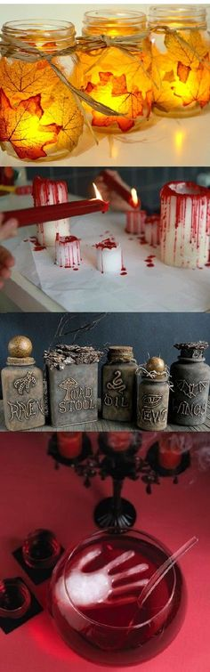 10 idées de décoration pour Halloween Soirée Halloween, Bricolage Halloween, Halloween School Treats, Nightmare Before Christmas Halloween, Halloween Items, Halloween Desserts, Diy Halloween Decorations, Holidays Halloween, Harry Potter