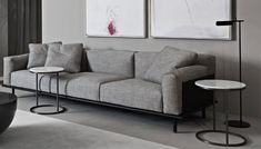 Sofas distinguished by elegant proportions, soft cushions and geometric lines are embellished by sophisticated construction detail. Living Room Sofa Design, Home Living Room, Living Room Designs, Contemporary Interior Design, Interior Design Studio, Luxury Furniture Brands, Living Styles, Luxury Homes, Upholstery