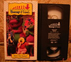 BARNEY& FRIENDS Time Life What's That Shadow? Very RARE! Vhs Video #16 OOP HTF! Sold on eBay for $44! Jan 2014.  www.SnapPost.com