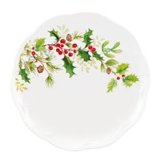 Amazon.com: Lenox Winter Meadow Holly Accent Plate: Kitchen & Dining