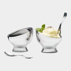 For the ice cream loving power couple.  Stainless Steel Ice Cream Bowls | MoMA Store