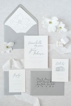 gray and white wedding invitation suite | elegant southern nuetral wedding styled shoot for photography workshop hampton roads virginia