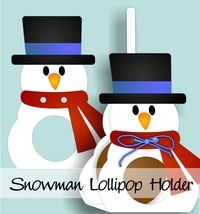 Snowman Lollipop Holder