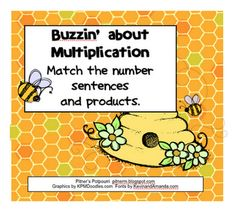 Here's a set of cards for matching with multiplication sentences with their products.