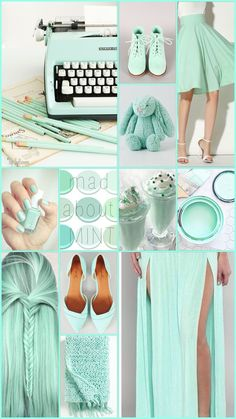 Mad about mint  by Cath #moodboard #color #pastel #mint