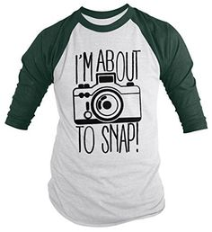 This funny t-shirt features a camera and reads 'I'm about to snap'. This hipster inspired design is great for those of you having a bad day that want to make light of the situation or those of you who