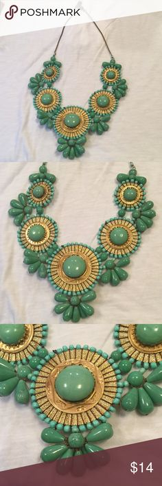 "ZAD Green statement never great condition Adjustable measures 14"" length or 30"" end to end ZAD Jewelry"