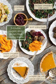 3-Course Vegan and Gluten-Free Holiday Menu – Step-by-step! via ohsheglows.com