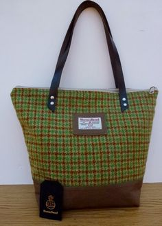 Large Harris Tweed Handbag 7507174ab08da