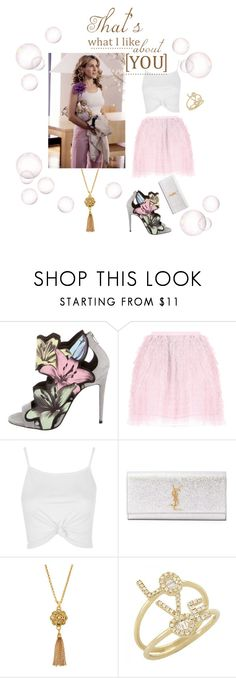 """That's what i like about you?"" by luisa ❤ liked on Polyvore featuring Pierre Hardy, RED Valentino, Topshop, Yves Saint Laurent and Jose & Maria Barrera"