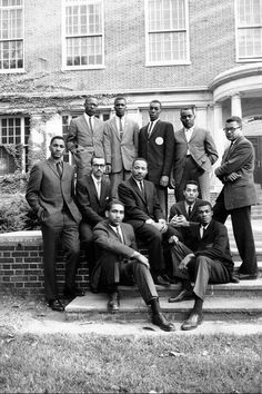 Civil Rights Leaders with Dr. Martin Luther King Jr. at Atlanta University (now known as Clark Atlanta University) in 1960. Photo by Howard Sochurek  http://www.opulentsafari.com/post/133094268103/alphabeticallyagent-dr-king-and-other-civil