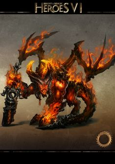 Pit Lords are Pit Fiends who have risen from within their own complex internal hierarchy. Considered to be the embodiment of pure Hatred, they are surpassed in power and ruthlessness by only the most vehement Arch-Demons. The Pit Lord is a creature in Might & Magic: Heroes VI. It is the Champion creature of the Inferno faction, and is the upgraded version of the Pit Fiend.