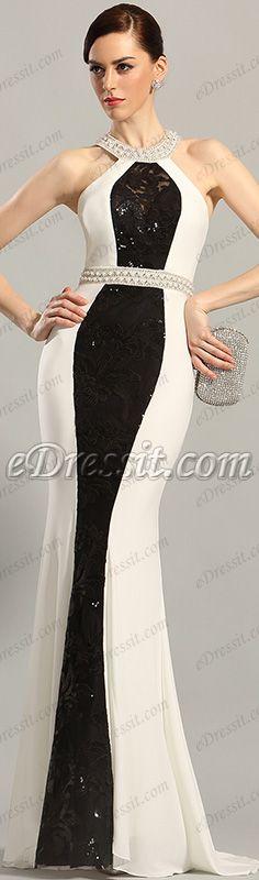 Halter neck gown, sparkling!($219.99) #edressit #evening_dress #prom_dress #fashion
