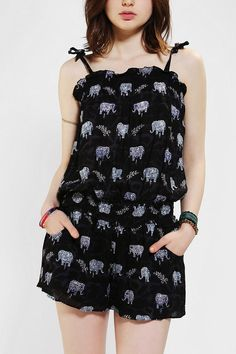 My ideal 4th of July outfit...Angie Smocked Elephant Print Romper