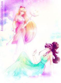 senshi-moon-empire:  Neo Princess Jupiter and Venus by ~AxsenArt