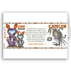ValxArt Zodiac metal rat Cancer born 1960 2020 Greeting Cards   by valxart.com for $3.05 What astrology sign+year are you? Your chinese zodiac year + astrology month molds your character. To learn more  see http://pinterest.com/pin/190347521720759035/  Valxart has Zodiac designs with & without horoscope forecast  include cusp, chinese zodiac years and years + sign. Check pinterest.com/valxart and if you do not see product, year or sign desired, contact Valxart  info@valx.us for links.