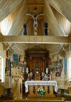 Wnętrze dominikańskiej kaplicy na Wiktorówkach. #dominikanie #wiktorówki #tatry