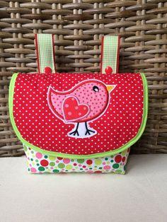 Lenkertaschen - Lenkertasche *Vogel/Punkte* - ein Designerstück von Creative-Happiness bei DaWanda