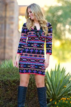 Alone Together Sweater Dress from Closet Candy Boutique #fashion #shop