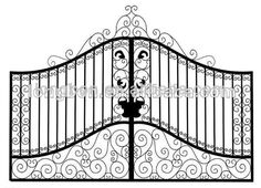 2012 Top-selling hand forged rod iron gate grill designs