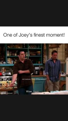 Friends Best Moments, Friends Tv Quotes, Joey Friends, Friends Scenes, Friends Episodes, Friends Cast, Friends Show, Really Funny Memes, Funny Facts