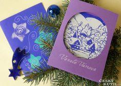 Vánoční přání se sítotiskem