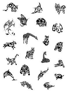 Flash de dessins de tatouages animaux
